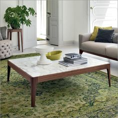 Porada Ziggy 6 Square Coffee Table   Marble Or Wood Top