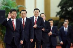Xi Jinping -- Power Suit Central: Navy suit, white shirt, red ties