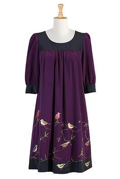 eShakti Aviary colorblock dress