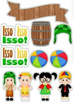Topo de bolo do chaves Photo Frames For Kids, Diy And Crafts, Paper Crafts, Giant Flowers, Cute Clipart, Coloring Book Pages, Cute Stickers, Printable Coloring, Scrapbook Paper
