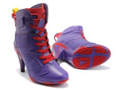 0a7bb0ca5076 2011 New Air Jordan 6 High Heels Shoes Purple Red Yellow