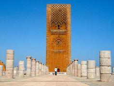 wie heißt die hauptstadt von marokko sehenswürdigkeiten hassan turm schöne aussicht pber die stadt fotos machen