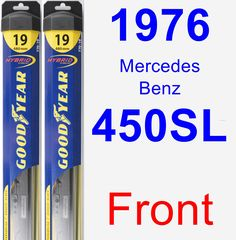Front Wiper Blade Pack for 1976 Mercedes-Benz 450SL - Hybrid