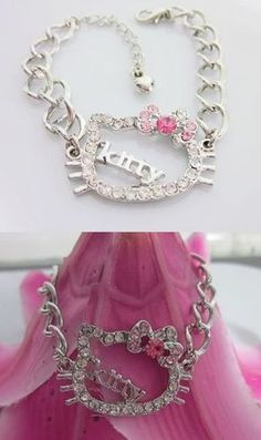 'Hello Kitty , Kitty bracelet ' is going up for auction at  1pm Thu, Dec 20 with a starting bid of $9.