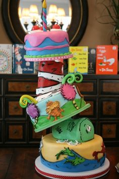 Dr Seuss By Lovemesomecake on CakeCentral.com