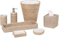 Amazon.com: Kouboo La Jolla Rattan Liquid Soap Dispenser (12 fl.oz.), White-Wash : Everything Else
