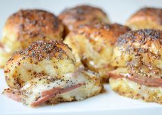 Baked Mustard, Ham & Cheese Sliders via www.thenovicechefblog.com