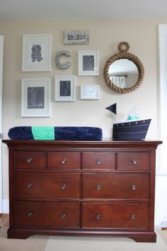 Project Nursery - Boy Nautical Nursery Changer