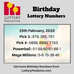 Pick 3 Lottery, Play Lottery, State Lottery, Winning Lottery Numbers, Winning Numbers, Lottery Number Generator, Visa Card Numbers, Lottery Drawing