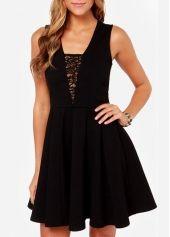 Fine Quality Sleeveless A Line Dress for Club