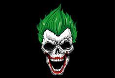 Joker Skull Calavera on Behance Joker Logo, Joker Cartoon, Joker Comic, Joker Art, Batman Art, Comic Art, Joker Drawings, Batman Drawing, Cartoon Drawings