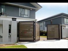 Classical Collections of Automatic Electric Gates - Elite Gates elektrisch House Outer Design, House Main Gates Design, Front Gate Design, Door Gate Design, House Front Gate, Front Gates, Entrance Gates, Fence Doors, Fence Gate
