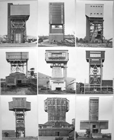 Winding Towers (Anlagen) by Bernd and Hilla Becher Detail Architecture, Industrial Architecture, Contemporary Architecture, Industrial Photography, Contemporary Photography, Bernd Und Hilla Becher, Building Art, Model Building, Constructivism