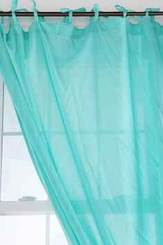 Tie-Top Voile Curtain  #UrbanOutfitters