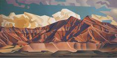 Volcanic Hills, 24 x 48, Oil on Canvas by David Jonason at a Scottsdale art gallery