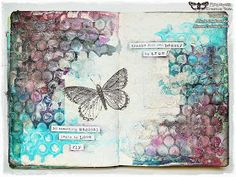 Marta Lapkowska: 'Learn to love' journal page + VIDEO tutorial Love Journal, Mixed Media Journal, Mixed Media Collage, Mixed Media Canvas, Art Journal Pages, Junk Journal, Art Journals, Collage Art, Beauty Journal