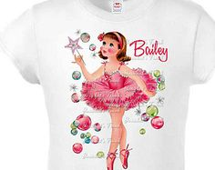 Ballet Shirt Ballerina Vintage Tee Custom Size Retro GIRL Personalized