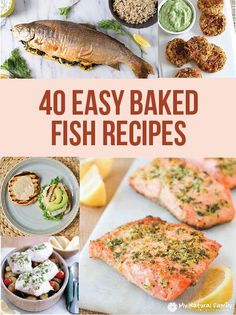 Here are some EASY baked fish recipes that I found so you can cook an easy, health meal at home and not have to eat out to get good fish. #recipe