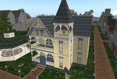 Virtual Victorian house | This lovely pale yellow Victorian ...