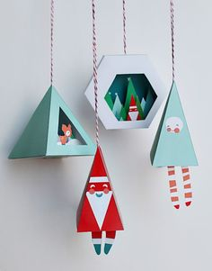 Printable holiday ornaments by Smallful