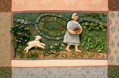 "Salley Mavor, ""Mary Had a Little Lamb,"" mixed media fabric relief, 13 x 20 inches (1995) by BMAC Photos, via Flickr"