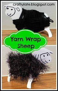 Craftulate: Yarn Wrap Sheep