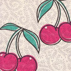 Pennychoo Old School Tattoo Cherries Any Occasion Card