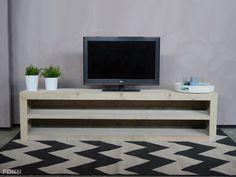 Design tv möbel lowboard  Bauholz TV Lowboard Weiß Marie - Bauholzmoebeldesign.de TV Möbel ...