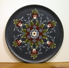 Rogaland Rosemaling Collector Plates by Artist Nancie L. Bush, Gatlinburg, TN