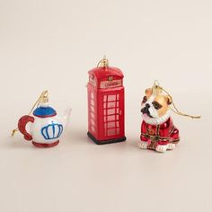 One of my favorite discoveries at WorldMarket.com: Glass England Boxed Ornaments, 3-Pack