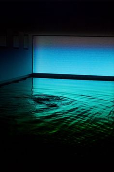 James Turrell (b. 1943, Los Angeles, CA) - Baker Pool, 2002-2008. James Turrell's Installation in the basement of a Greenwich, Connecticut barn belonging to Richard and Lisa Baker and their three children.: