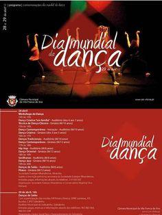 No próximo dia 29 de abril celebra-se o Dia Mundial da Dança, efeméride que será assinalada atravésde um conjunto de ações, promovidas pelos Agentes Culturais Locais, e que decorrerão em alguns pontos do concelho de Vila Franca de Xira