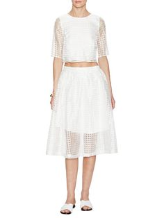 Grid Organza Skirt by Best Society at Gilt