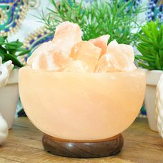Bowl Salt Lamp . Bowl of Fire Salt Lamp. These Lamps absolute beautiful appearance will surely enhance any room in your home. Plus the Himalayan Crystal Rock Lamp creates a most calming and soothing aura wherever it is placed. It's ideal for your bedroom, bathroom, living room, office and spa.