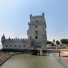 Belem tower is a fortress originally built to defend the mouth of the Targus River in Belem Portugal. Check out our detailed city guide! Belem Portugal, Custard Tart, Tower Bridge, River, City, Check, Cream Pie, Rivers, Quiche