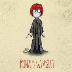 Tim Burton styled Ronald Weasley