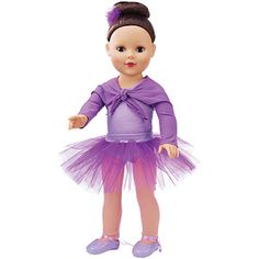My Life As Purple Ballerina Doll, Brunette