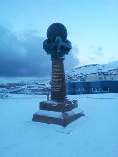 Struve Meridianbue, Meridianstøtten in Hammerfest, Finnmark