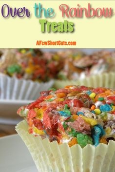 Over the Rainbow Treats Recipe. Perfect for St Patricks day or any day that needs a rainbow! #GlutenFree
