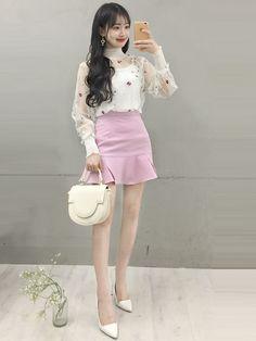 Check these out cute korean fashion 7485 Cute Korean Fashion, Korean Fashion Trends, Korea Fashion, Japanese Fashion, Asian Fashion, Girl Fashion, Fashion Looks, Fashion Design, Girl Outfits