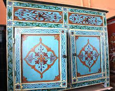 Image result for MOROCCAN STENCIL CUPBOARD DOORS