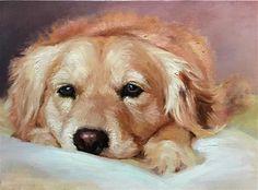 "Daily Paintworks - ""Longing for a friend"" - Original Fine Art for Sale - © Regina Lyubovnaya"