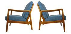 Pair of FD109 easy chairs by Ole Wanscher. Refinished and reupholstered, $2350