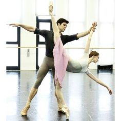 Svetlana Zakharova and Roberto Bolle. Manon (from @robertobolle)