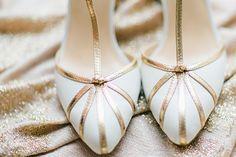 #Brautschuhe in Gold & Weiß  #Wedding Shoes #Hochzeit