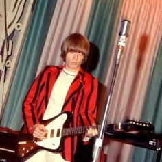 Rolling Stone Brian at Steel Pier, Atlantic City, New Jersey, of July 1966 The Rolling Stones, Brian Jones Rolling Stones, Bill Wyman, Rollin Stones, Ronnie Wood, Stone World, Marc Bolan, 60s Music, Rock News