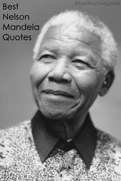 Long list of Nelson Mandela quotes; wisdom and inspiration from Nelson Mandela - Bits of Positivity #bestquotes #quotes #NelsonMandelaquotes #MandelaDay Citation Nelson Mandela, Nelson Mandela Quotes, Photo Star, Richard Gere, Portraits, Black Power, Black People, Black History, Famous People