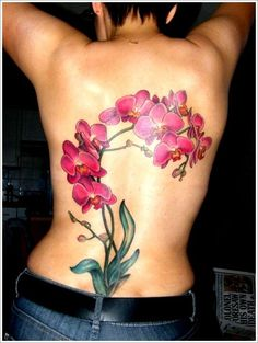 tattoo lotus orchid back piece ideas - Google Search
