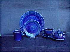 """Fiesta Ware Cobalt Blue China. 10"""" Dinner Plate 7"""" Salad/Dessert Plate"""