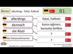 almanca I Deutsch I allerdings I dennoch - tekrar Music, Youtube, Deutsch, Musica, Musik, Muziek, Music Activities, Youtubers, Youtube Movies